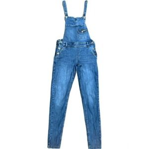 Superdry Button Side Denim Light Wash Jean Overall
